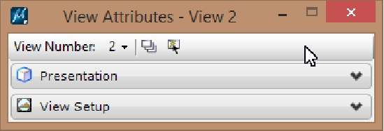 Microstation - View Attributes